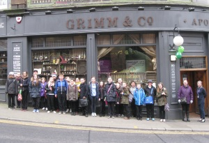 Class 10 about to enter the magical world of the Grimm & Co Apothecary for The Magical