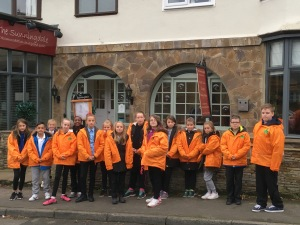 Year 6 outside the Sunnigdale Hotel - our base for the week in Northumberland.